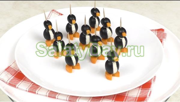 Канапе «Пингвинчики»