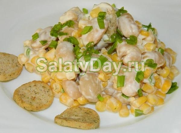 Салат «Емельян» с фасолью