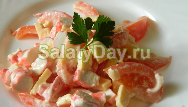 Быстрый и вкусный салат с кукурузой