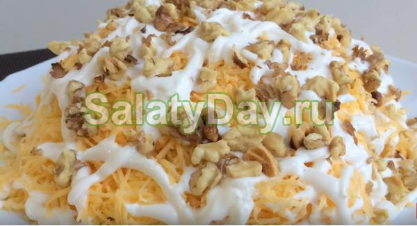 Быстрый и вкусный салат с креветками