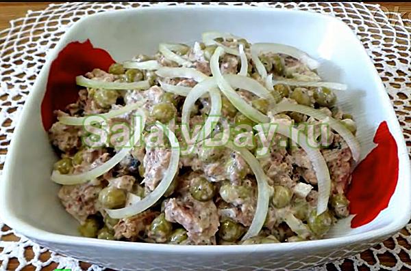 Легкие салаты с горошком рецепты простые и вкусные