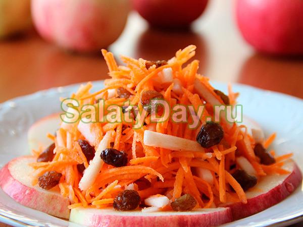 Салат витаминный морковь изюм курага чеснок майонез мед
