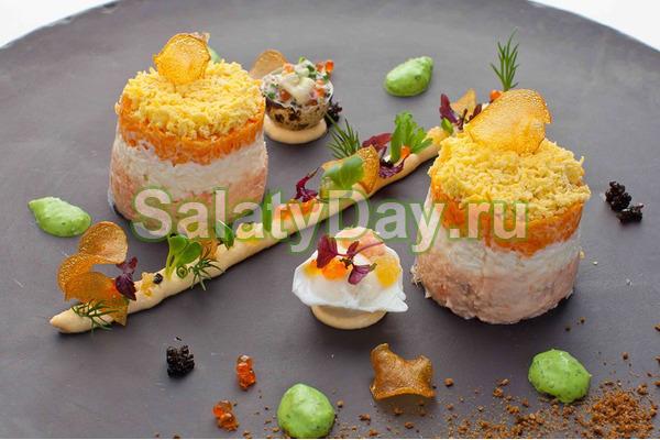 мимоза рецепт классический без картошки и моркови