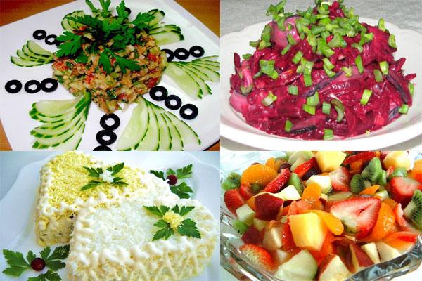 Как приготовить салаты празднычные фото