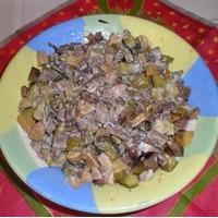 Легкий салат с грибами
