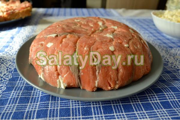Салат – торт из красной рыбы