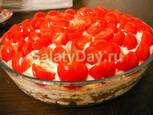 Салат «Красная шапочка» традиционный