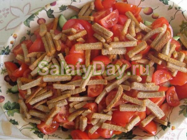 Салат с кедровыми орехами «Цезарь»