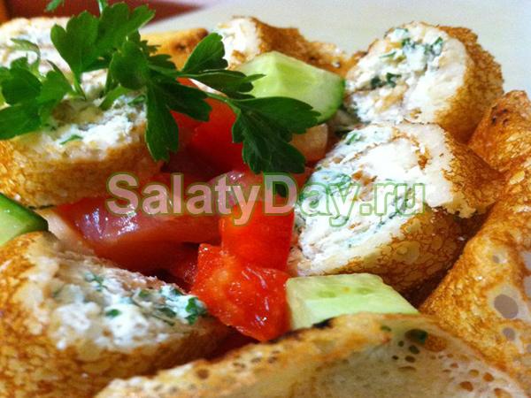 Салат из блинчиков «Блинная радость»