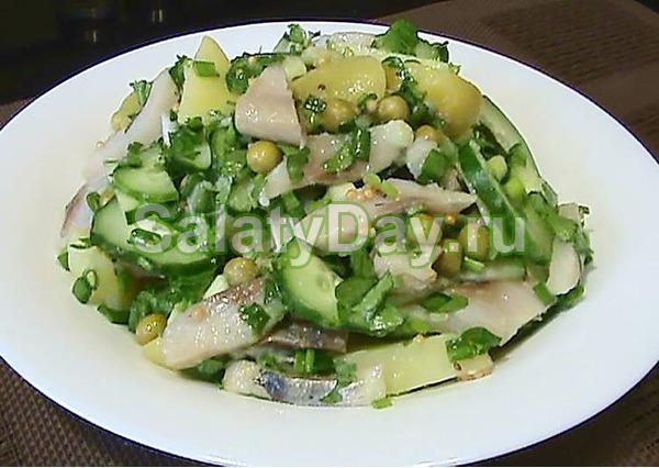 Салат из сельди по-весеннему