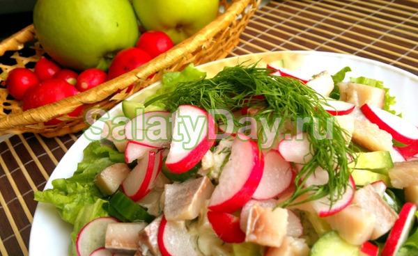 Салат из сельди «Краски вкуса»