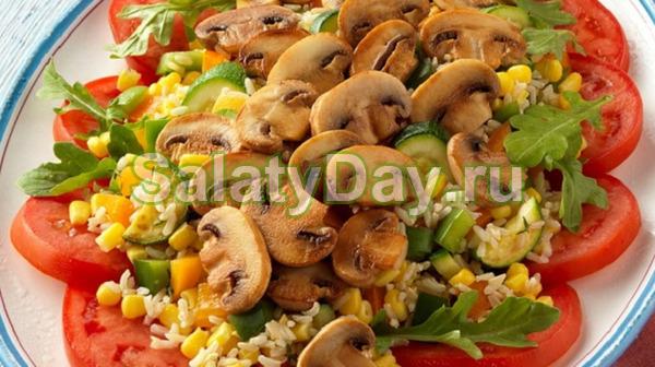 Салат с грибами шампиньонами «Монастырский»