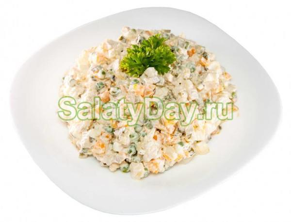 Салат на скорую руку с кукурузой