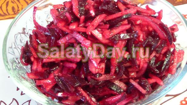 Салат из свеклы и болгарского перца на зиму