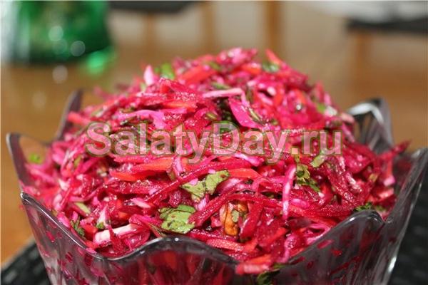 Салат со свеклы по корейски