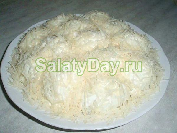 Классический салат «Сугробы»