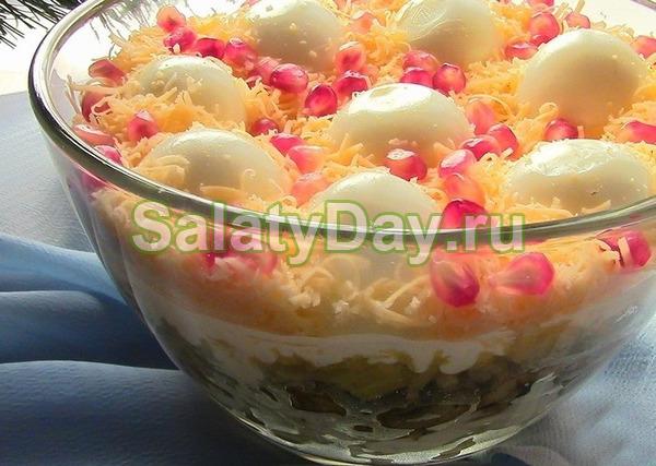 Праздничный салат «Сугробы»
