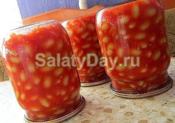 Салат фасолевый на зиму - классический рецепт
