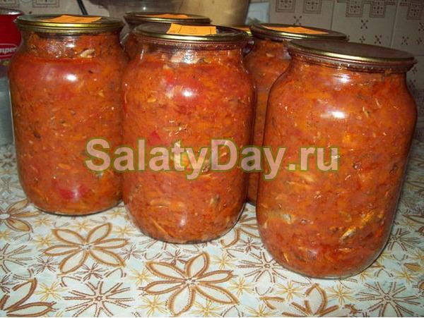 Салат с килькой «Золотой запас»