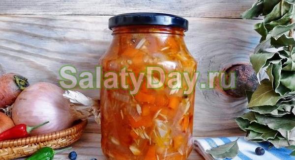 Салат из кильки с овощами консервированный