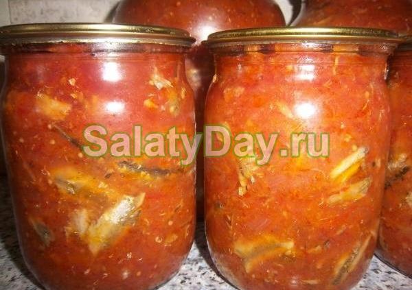 Салат с килькой и репой на зиму