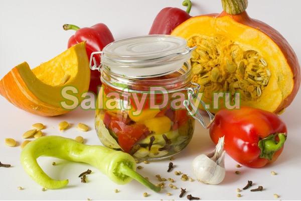 Салат с тыквой пряный