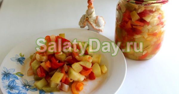 Салат на зиму из тыквы и болгарского перца