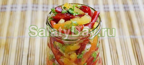 Салат из сладкого перца, томатов и чили на зиму – для любителей пикантных, острых закусок