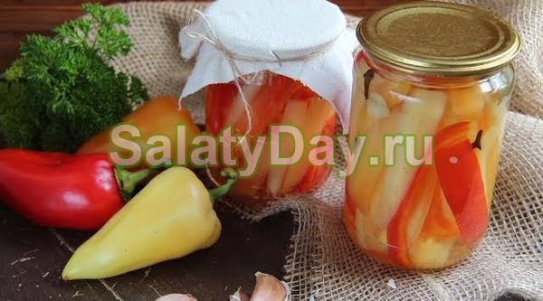 Салат из сладкого перца, огурцов и помидоров на зиму – ароматный, красивый, полезный