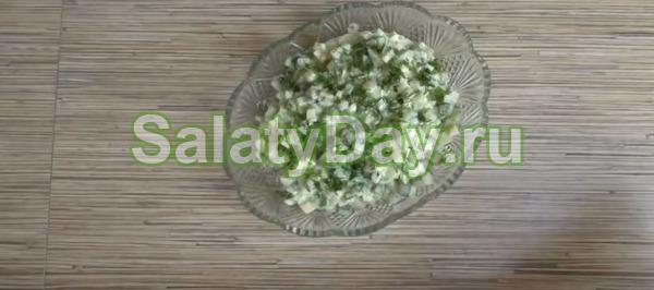 Салат с огурцом и яйцом «Классический»