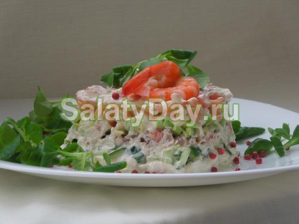 Смотреть Салат из мяса краба натурального видео