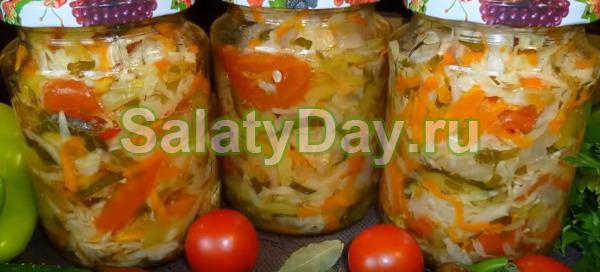 """Салат с капустой """"Кубанский"""""""