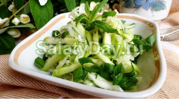 Простой салат из кабачков