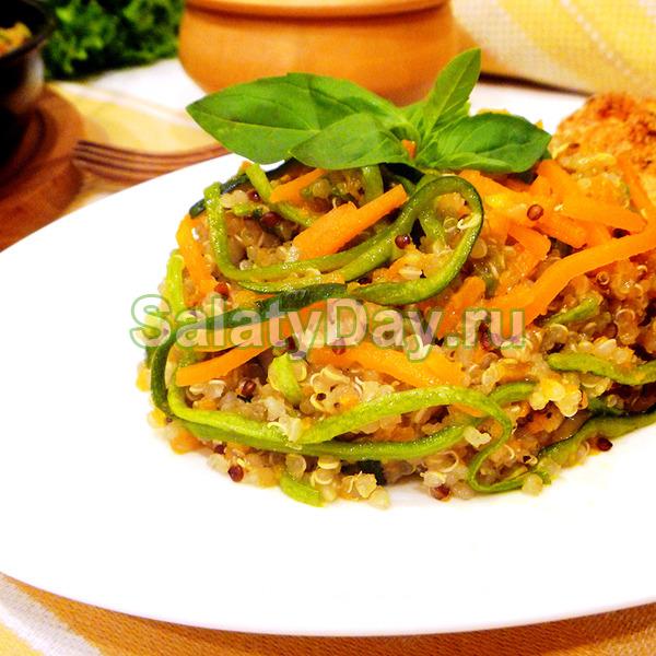 Классический овощной салат с киноа