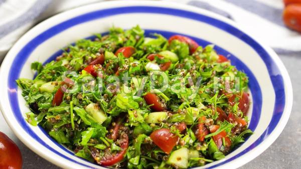 Полезный салат с красным киноа