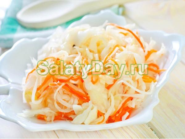 Маринованная капуста «Быстрая» с морковью - одна из самых популярных