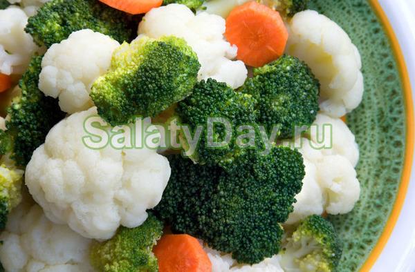 Маринованная капуста «Вкусный дуэт» с цветной капустой и брокколи - прекрасное сочетание