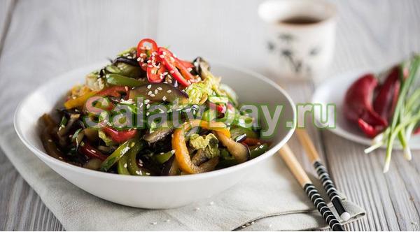 Салат из баклажанов по-корейски – традиционный рецепт