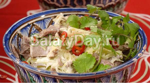 Классический вариант салата «Ташкент»