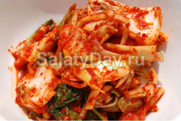 Кимчи из белокочанной капусты быстрого приготовления