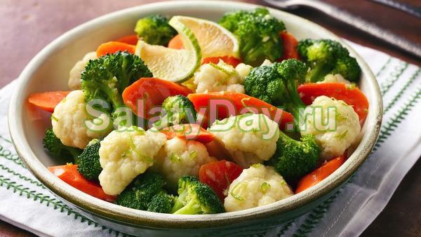 Салат из вареных овощей с чилийским маслом