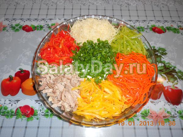 салат светофор рецепт