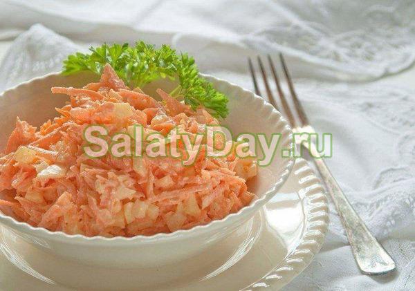 Салат из моркови диетический
