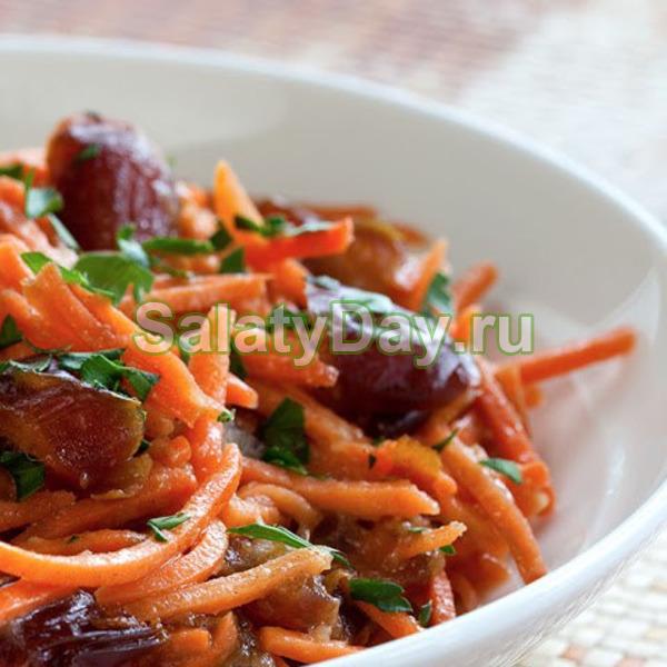Салат из моркови с финиками и кумином