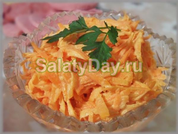 Салат из сырой моркови с имбирем