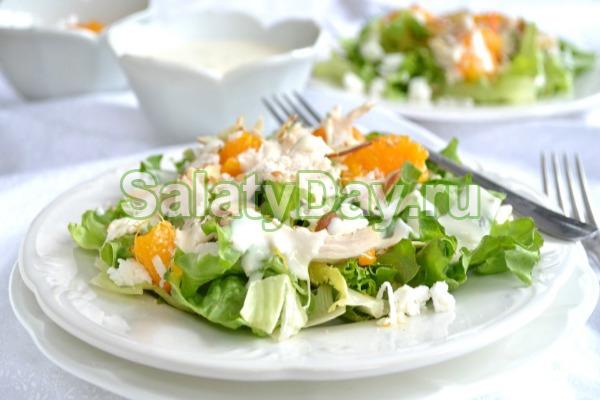 Салат с жареной куриной грудкой - рецепт пошаговый с фото