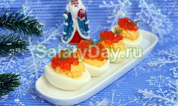 Яйца, фаршированные сыром - рецепт пошаговый с фото