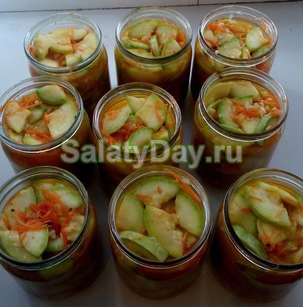 Зимний салат кабачок