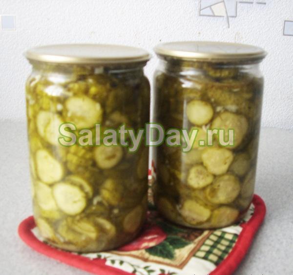 Салат из огурцов с горчицей на зиму «быстрый»