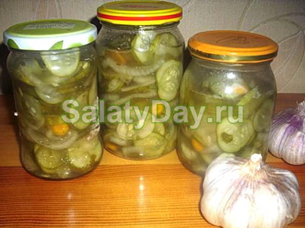 Салат из огурцов с горчицей на зиму «колорит»